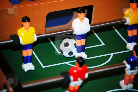 About to score stock photo, It looks like a score on the foosball table by Tim Markley