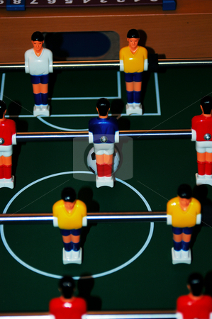 Lined up stock photo, A shot lined up on a foosball table by Tim Markley