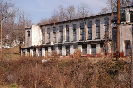 Old factory stock photo, An old factory lost to outscourcing by Tim Markley