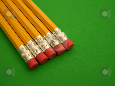 Test ready stock photo, Number 2 pencils ready for testing by Tim Markley