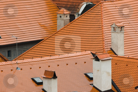 Tile roofs stock photo, Tile roofs by Andrey Butenko