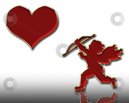 Valentine's cupid stock photo, Valentine's day red cupid illustration by Desislava Dimitrova