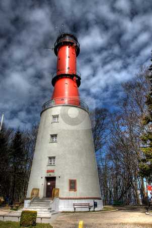 Lighthouse. Light tower. stock photo, The old light tower in Poland, Rozewie by Joanna Szycik