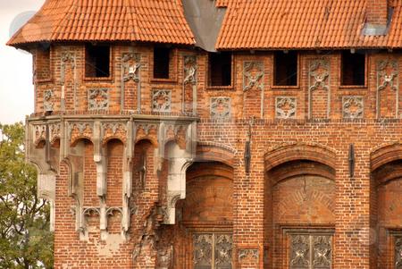 Castle tower in Malbork stock photo, Fragment of castle tower in Malbork, Poland by Joanna Szycik