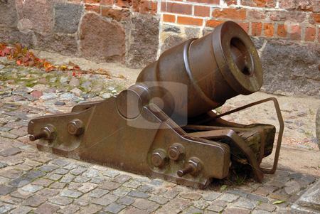 Cannon in Malbork stock photo, An old cannon protecting the castel in Malbork, Poland by Joanna Szycik