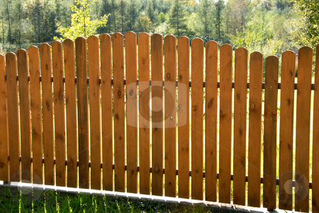 Wooden fence stock photo, Hand made wooden fence somewhere on countryside by Joanna Szycik
