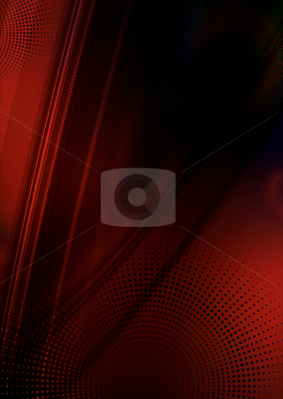 Red abstract flow stock photo, Red and black abstract flow background with copyspace by Michael Travers