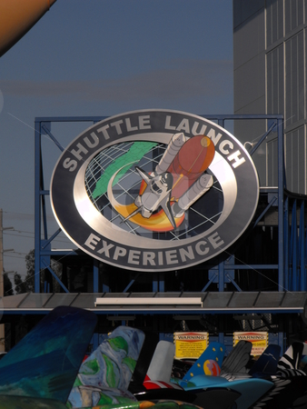 Kennedy Space Center stock photo, One of the features of the Kennedy Space Center Visitor Complex is the opportunity to experience the feeling of the shuttle launch in a large simulator.  This is one of the more popular sites at the center with both young and old. by Dennis Thomsen
