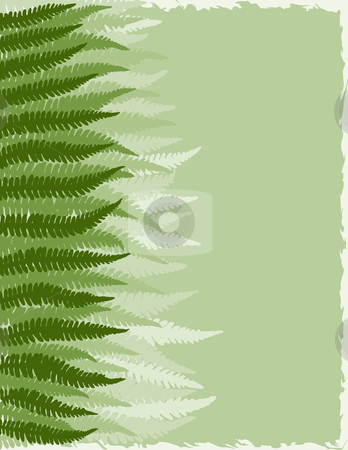 Fern Fronds Background stock vector clipart, Shades of Green Fern Fronds Background by Adrian Sawvel