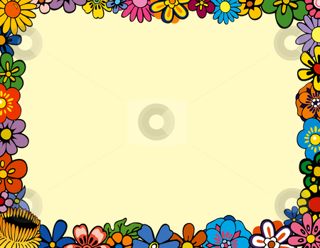 Floral Border stock vector clipart, Colorful Floral Border by Adrian ...