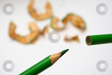 Before and AFter stock photo, A pencil showing both ends -- sharpened and not by Karma Shuford