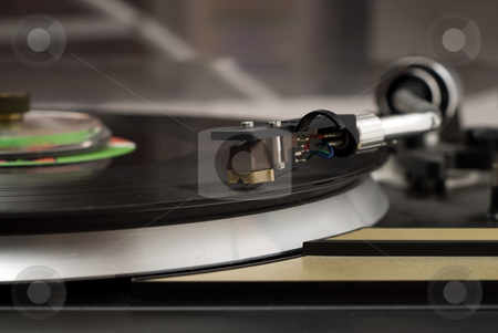 Vintage Music Player stock photo, Closeup view of a vintage music player by Richard Nelson