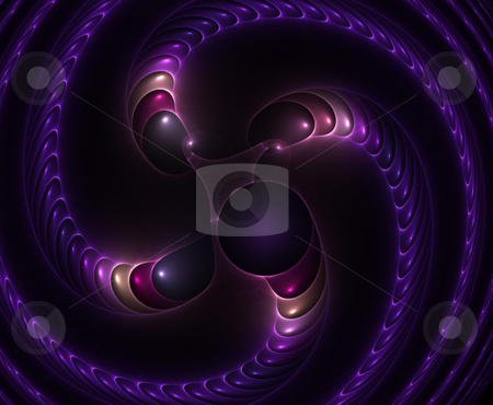 Purple Fractal Spiral stock photo, A unique fractal background texture that will enhance any design. by Todd Arena