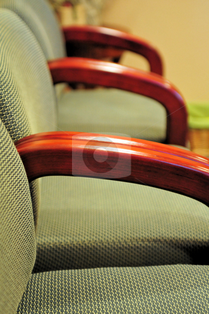 Waiting Room Chairs stock photo, Side view of a row of office waiting room chairs by Lynn Bendickson