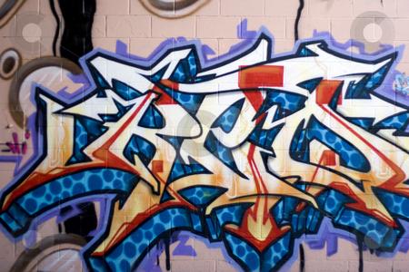 street graffiti stock photo colorful graffiti spray painted on a. Black Bedroom Furniture Sets. Home Design Ideas