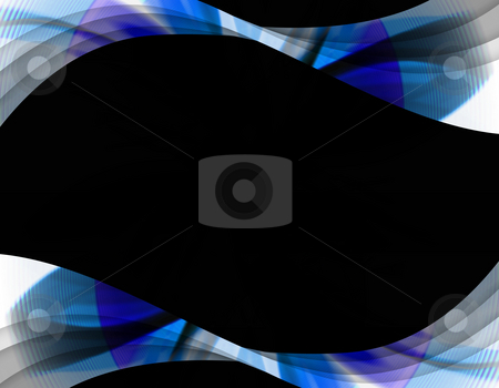 Abstract Swirl Border stock photo, A wavy abstract layout - great for use as a design template or background. by Todd Arena