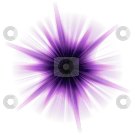 Solar Star Burst stock photo, A purple star burst or lens flare over a white background. by Todd Arena