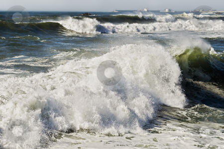 Churning sea stock photo, Churning sea in the northern coast of Portugal by Manuel Ribeiro