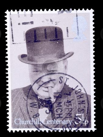 Winston churchill stock photo, British postage stamp commemorating winston churchill by Torsten Lorenz