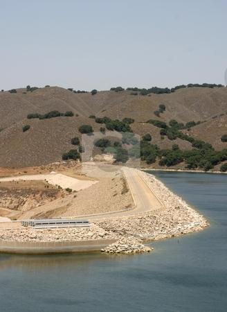 Bradbury Dam stock photo, The Bradbury Dam at Lake Cachuma in Santa Barbara County. by Henrik Lehnerer