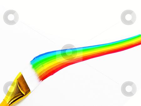 Rainbow Painting stock photo, Rainbox painting by John Teeter