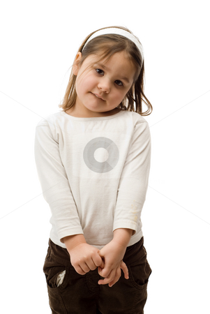 Isolated 4 Year Old stock photo, A 4 year old toddler, isolated against a white background by Richard Nelson