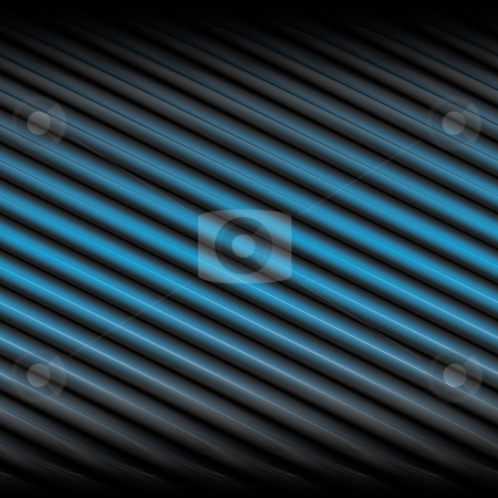 Blue Stripes stock photo, A background texture with blue and black diagonal stripes. by Todd Arena