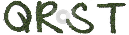 Tree Alphabet stock photo, A series of CG alphabetic elements. Copy and combine them to make your own green message! by Allan Tooley