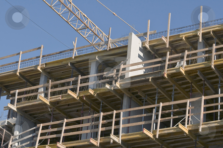 Building under construction stock photo, Framework detail of a new buinding by Massimiliano Leban