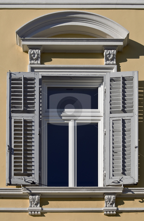 Window stock photo, Detail of a window of an italian classical building by Massimiliano Leban