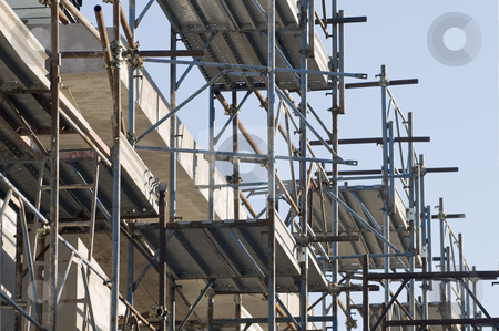Scaffolding stock photo, Detail of scaffolding in a construction site by Massimiliano Leban