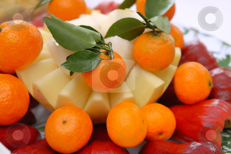 Asian Food stock photo, Oren and honeydew with guava by Jaggat Images