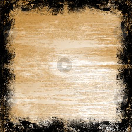 Metal grunge frame stock photo, A rusty looking metal grunge frame. by Todd Arena