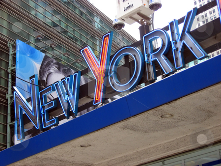 New York Sign stock photo, The words