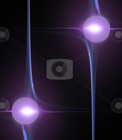 Funky Fractal Border stock photo, A cool background border with 3d abstract lines.  Great for ads and layouts. by Todd Arena