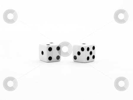 Lucky Seven stock photo, Lucky seven in dice by John Teeter