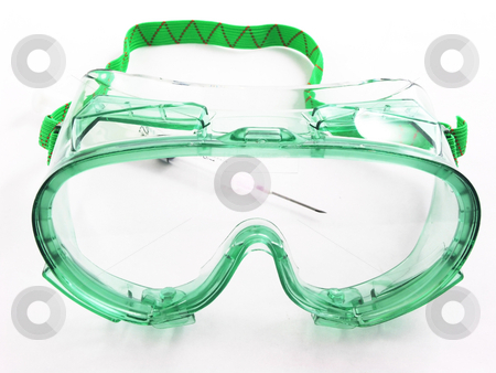 Goggles stock photo, Goggles with syringe by John Teeter