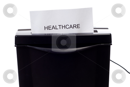 Bad Healthcare stock photo, Concept image of a poor healthcare system being destroyed by Richard Nelson