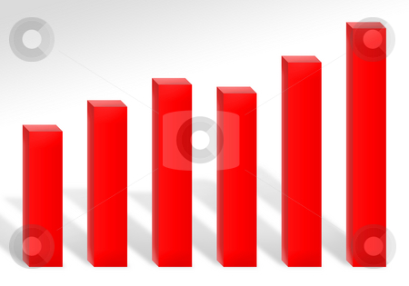 Profit Chart stock photo, A 3d red bar chart illustration showing profits or growth. by Todd Arena