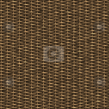 Wicker Texture stock photo, A woven wicker material you might see in some furniture or a basket. by Todd Arena