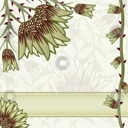 Ornate floral background stock vector clipart, Ornate floral background with space for text by Adrian Sawvel