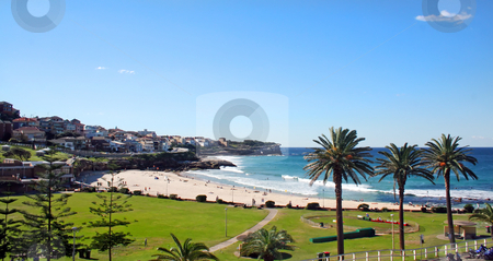 Bronte Beach Sydney stock photo, Bronte Beach in Sydney Australia looking South towards Bondi. by Brett Mulcahy