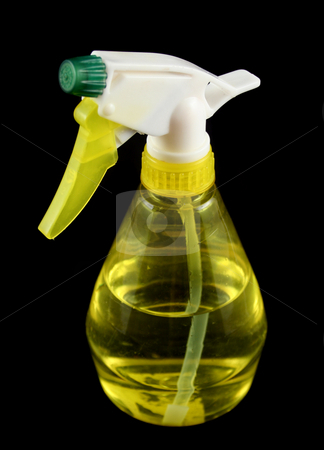 Spray Bottle 1  stock photo, Plastic spray bottle used for spraying liquids. by Brett Mulcahy