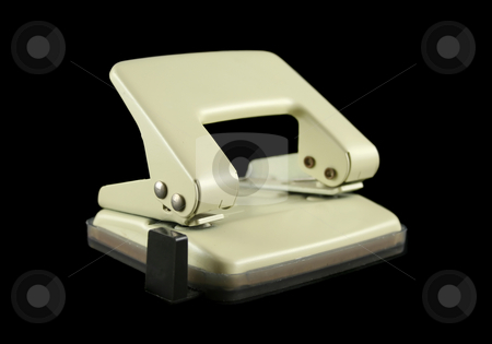 Two Hole Paper Punch stock photo, Two hole punch used for punching holes in paper. by Brett Mulcahy