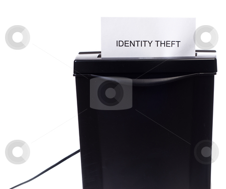 Identity Theft stock photo, Concept image of identity theft being stolen or destroyed by Richard Nelson