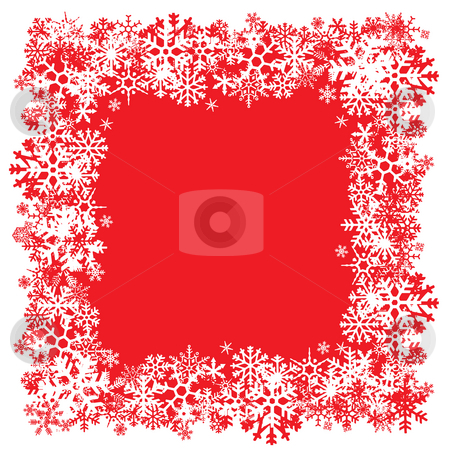 Snowflakes Layout stock photo, A snowflakes border texture that can be used as a border or edge on your design. by Todd Arena