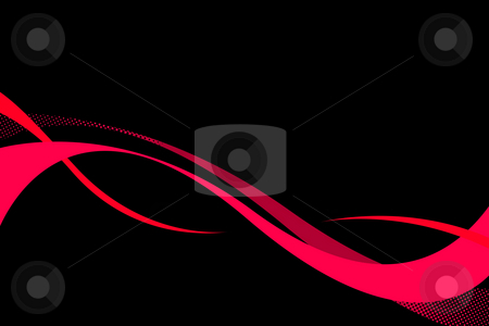 Tribal Swoosh Curves stock photo, Red flowing tribal curves layout with plenty of copy space.  A great layout for a postcard or business card. by Todd Arena