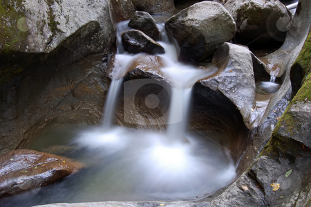 Small Water Falls stock photo, Picture of a small stream with some water falls by Alain Turgeon
