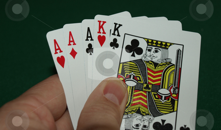 Full house stock photo, Full hous hand with aces and kings by Tim Markley