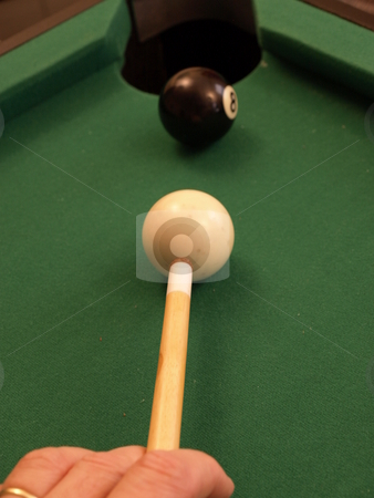 Corner shot stock photo, Eight ball in the corner by Tim Markley